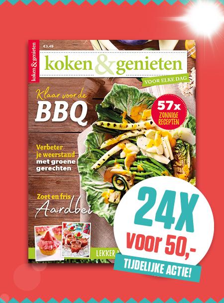 Afbeelding van Koken & Genieten: 24x Voor ?50,-