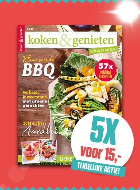 Afbeelding van Koken & Genieten: 5x Voor ?15,-