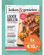 koken & genieten: 5x voor €15,-