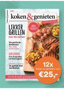 koken & genieten: 12x voor €25,-