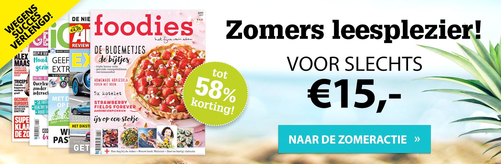 Jouw favoriete magazine voor maar 15 euro